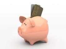 Banco piggy cor-de-rosa ilustração do vetor