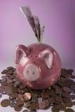 Banco piggy cor-de-rosa Fotografia de Stock Royalty Free
