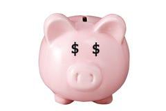 Banco piggy cor-de-rosa Imagens de Stock