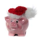 Banco piggy cor-de-rosa com o tampão do saco da geléia Fotos de Stock