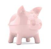 Banco piggy cor-de-rosa isolado no fundo branco Foto de Stock