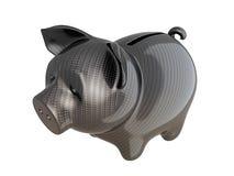 Banco piggy da fibra do carbono: serviço de confiança Fotografia de Stock