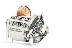Banco Piggy do dinheiro foto de stock