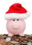 Banco piggy do Natal Imagens de Stock Royalty Free