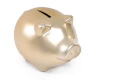 Banco piggy do ouro Foto de Stock