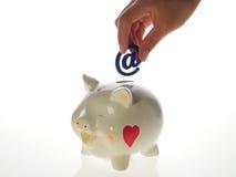 Banco piggy feliz Fotografia de Stock Royalty Free
