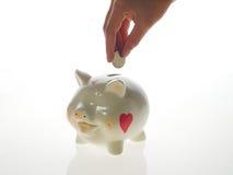 Banco piggy feliz fotos de stock royalty free