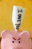 Banco Piggy irritado fotos de stock royalty free