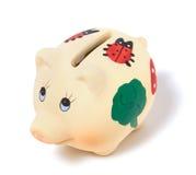 Banco Piggy isolado no fundo branco Fotografia de Stock