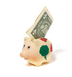 Banco Piggy isolado no fundo branco Fotos de Stock Royalty Free