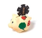 Banco Piggy isolado no fundo branco Imagem de Stock