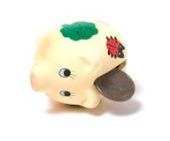 Banco Piggy isolado no fundo branco Imagens de Stock
