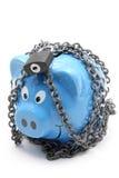 Banco Piggy Locked Imagem de Stock Royalty Free