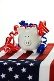 Banco piggy patriótico Fotografia de Stock