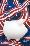 Banco piggy patriótico Foto de Stock
