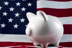 Banco Piggy patriótico 4149 Fotos de Stock Royalty Free