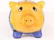 Banco piggy preocupado Fotos de Stock