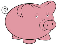 Banco piggy triste ilustração do vetor