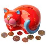 Banco piggy vermelho Fotografia de Stock Royalty Free