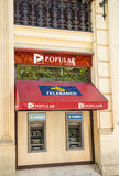 Banco Populaire tak Stock Afbeelding