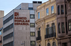 Banco Popular Espanol. Headquarters in Madrid, Spain Royalty Free Stock Photos