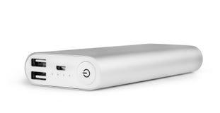 Banco portátil do poder para carregar dispositivos móveis fotografia de stock
