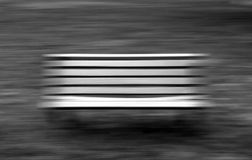 Banco preto e branco imagem de stock