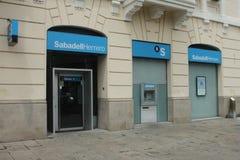 Banco Sabadell Herrero Royaltyfri Bild