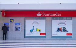 Banco Santander förgrena sig Arkivfoto