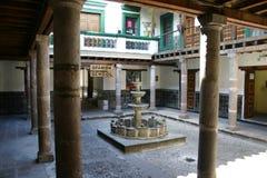 Banco spagnolo a Quito Fotografia Stock Libera da Diritti