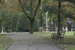 Banco in un parco Fotografia Stock
