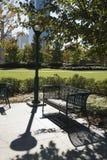 Banco vacío en parque en Atlanta, Georgia. Fotografía de archivo libre de regalías