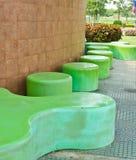 Banco verde Fotografie Stock