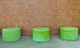 Banco verde Fotografia Stock