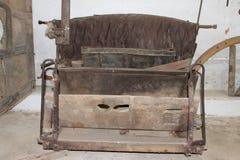 Banco viejo del carro del caballo imagen de archivo libre de regalías