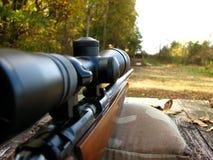 Banco y arma del Shooting Imagen de archivo libre de regalías