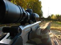 Banco y arma del Shooting Fotos de archivo