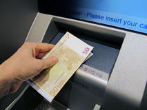 bancomat Arkivbild
