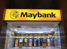 BANCOMAT Kuala Lumpur di Maybank fotografia stock