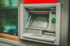Bancomat verde Fotografie Stock Libere da Diritti