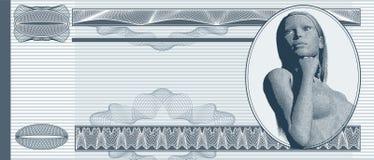 Banconota in bianco Fotografia Stock