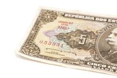Banconota brasiliana del cruzeiro 5 Immagini Stock Libere da Diritti