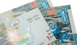 1 banconota del dinaro kuwaitiano Immagine Stock Libera da Diritti