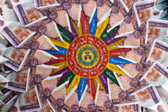 Banconota del fiore Fotografia Stock Libera da Diritti