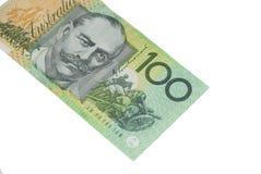 Banconota dell'australiano dei 100 dollari Fotografia Stock Libera da Diritti