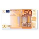 banconota dell'euro 50 Fotografia Stock Libera da Diritti