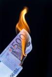 Banconota dell'EURO 500 su fuoco Fotografia Stock Libera da Diritti