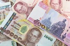 Banconota di baht tailandese Fotografie Stock Libere da Diritti