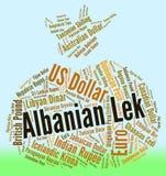 Banconota di Lek Shows Foreign Exchange And dell'albanese Fotografia Stock Libera da Diritti