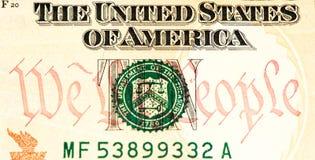 Banconota di valuta di U.S.A. Fotografie Stock Libere da Diritti